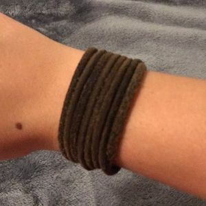 Jewelry - Suede Brown Layered Bracelet